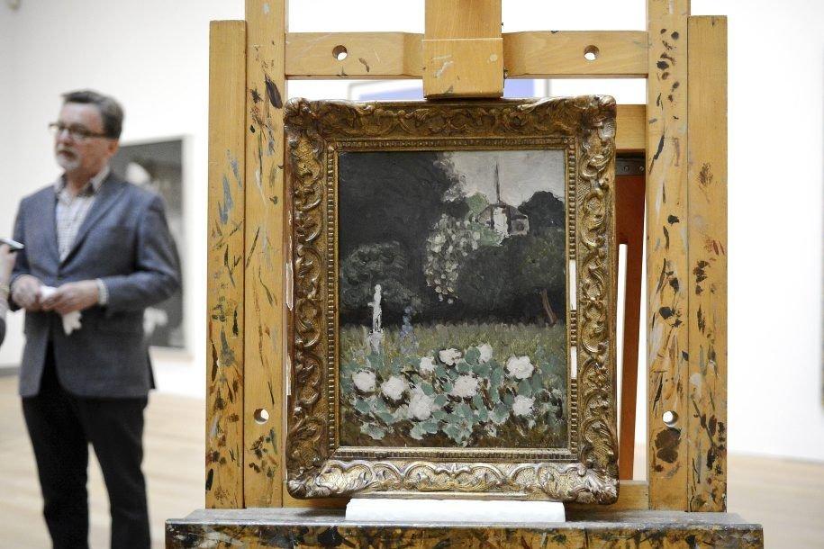 Le jardin, oeuvre peinte en 1920 par Henri... (Photo: AFP)