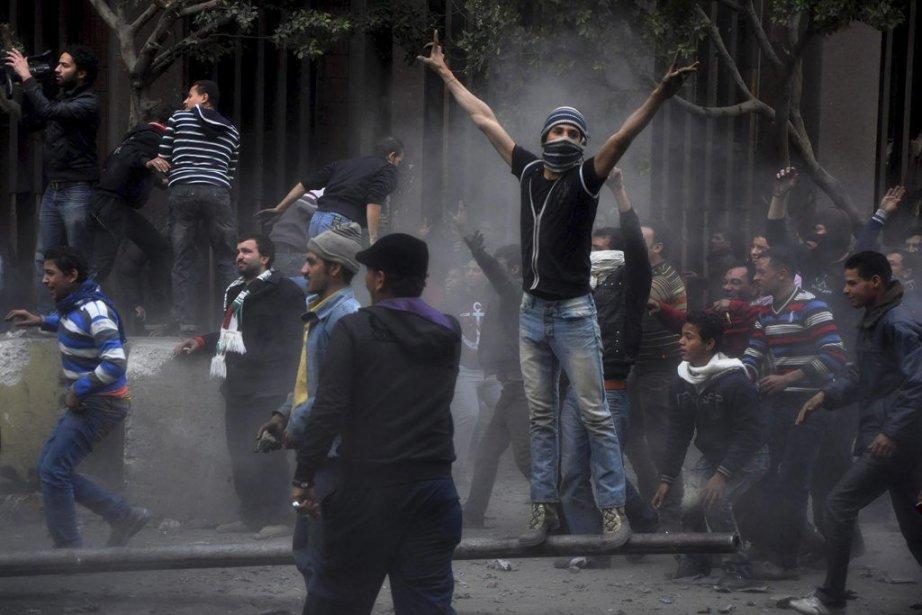Les manifestations de jeudi, qui ont fait des... (Photo AP)