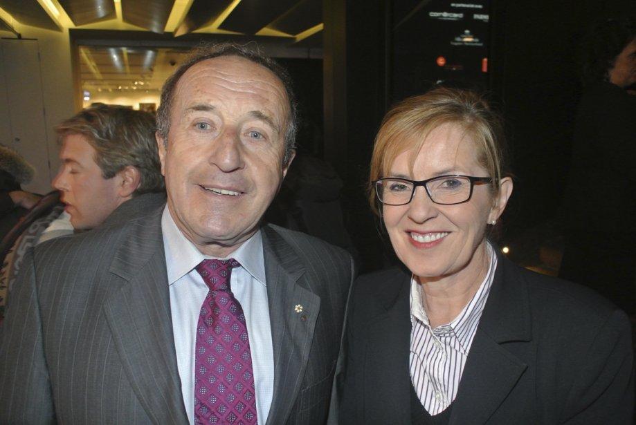Bernard Derome et sa conjointe. | 25 janvier 2013
