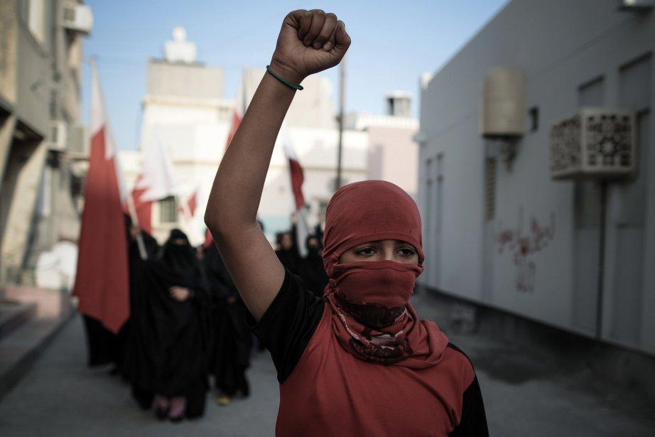Ralliement antigouvernement dans le village de Ma'ameer, au sud de la capitale de Bahreïn, Manama. | 25 janvier 2013