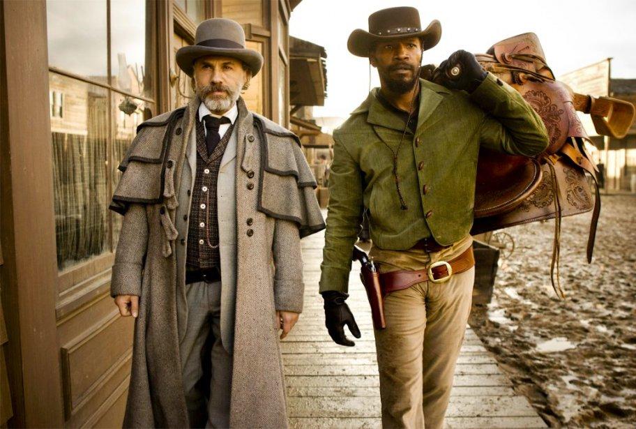 Christoph Waltz et Jamie Foxx dans Django Unchained... (Photo: archives AP)