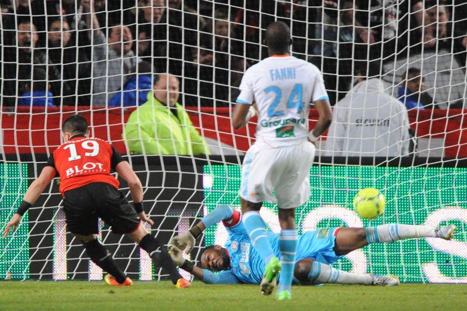 Marseille a cédé le nul à  Rennes... (Jean-François Monier, AFP)
