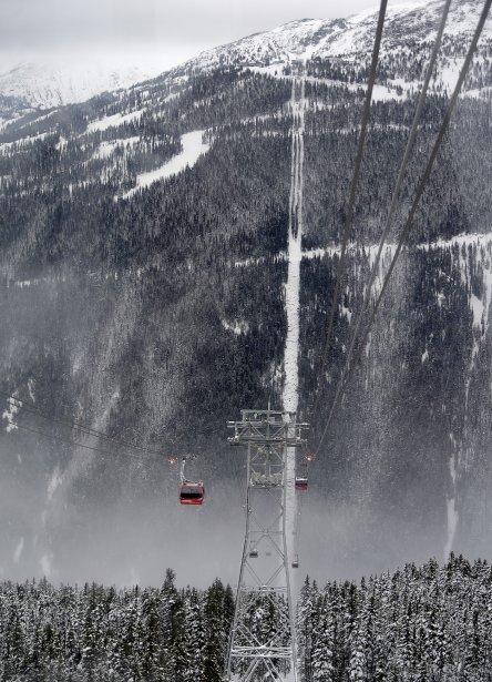 Vue du Peak 2 Peak, le parc provincial Garibaldi à nos pieds. | 28 janvier 2013