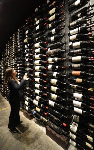 La cave à vin du Bearfoot Bistro de l'hôtel Listel Whistler. | 28 janvier 2013