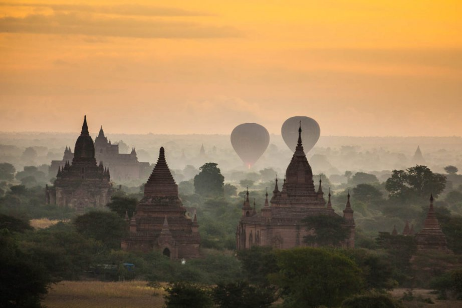 Quelques-unes des 2200 pagodes du Myanmar | 28 janvier 2013