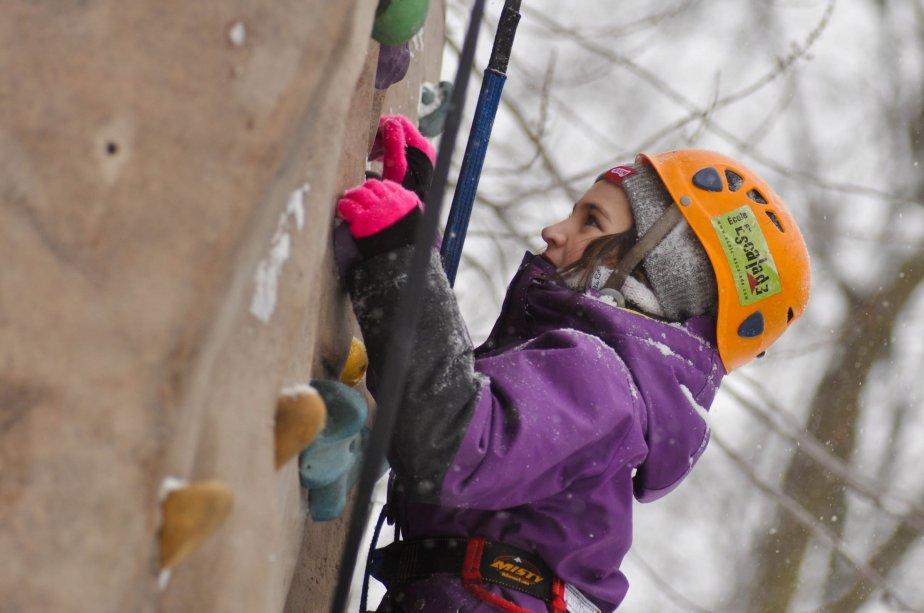 Les activités des Nuits polaires étaient nombreuses. Sur la photo, Audrey Houde profite du mur d'escalade. | 28 janvier 2013