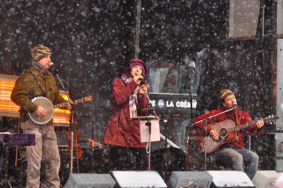 Les Portageux étaient au nombre des artistes qui ont foulé la grande scène du parc Champlain durant la fin de semaine. | 28 janvier 2013
