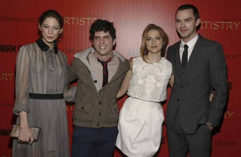 Analeigh Tipton, le réalisateur Jonathan Levine, Teresa Palmer et Nicholas Hoult | 29 janvier 2013