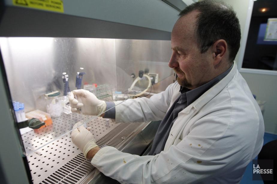 Le Professeur Erwann Loret manipule un échantillon du... (Photo Jean-Paul Pelissier, Reuters)