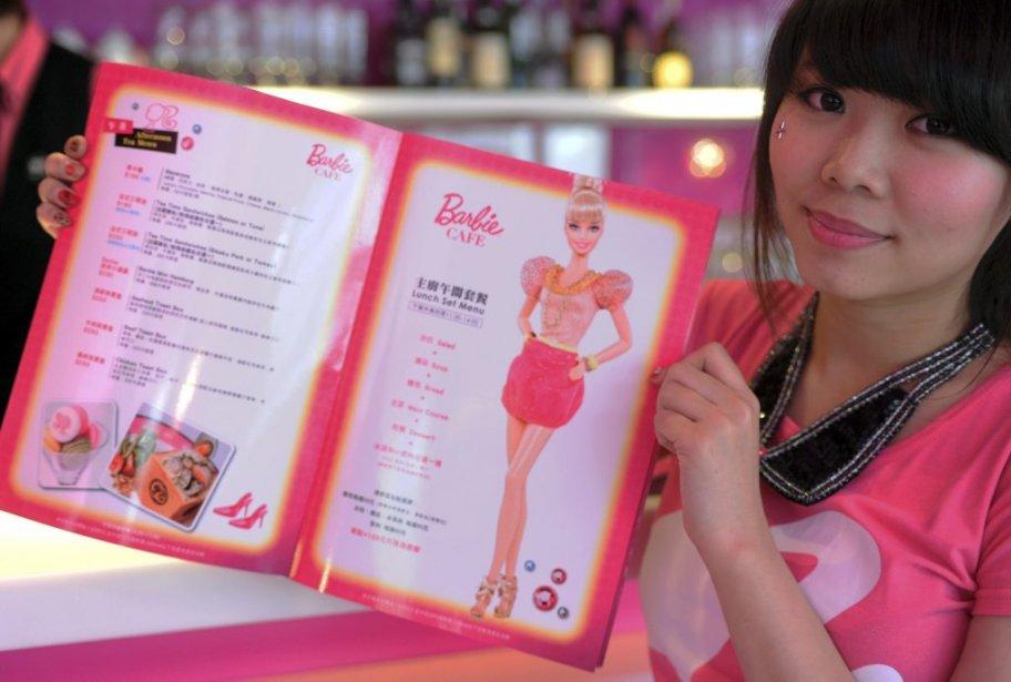 Le menu du Barbie Cafe. | 30 janvier 2013
