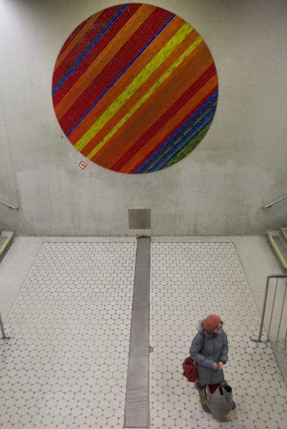 Station Peel : les cercles composés de carreaux de céramique... | 2013-01-31 00:00:00.000