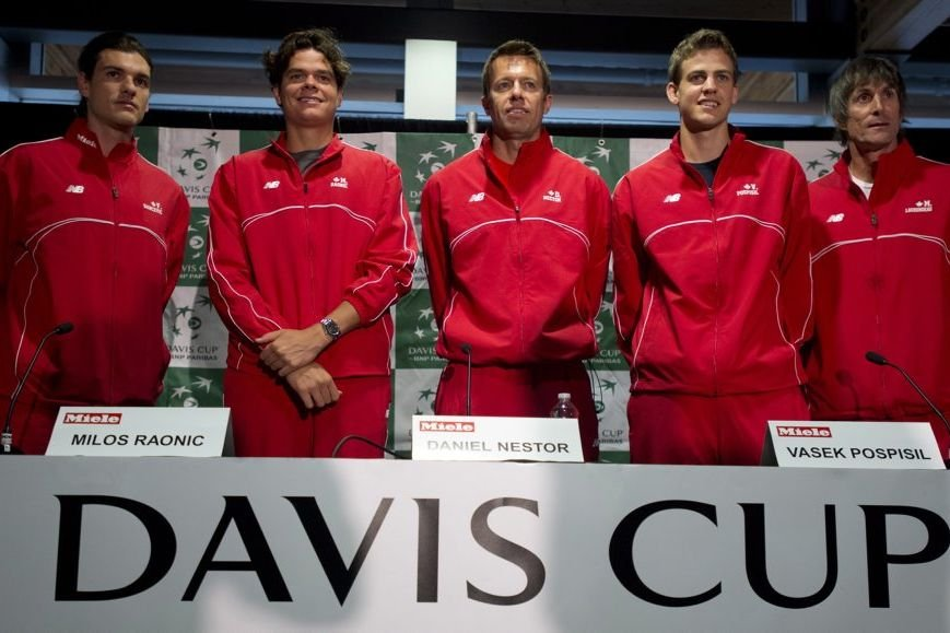 Frank Dancevic, Milos Raonic, Daniel Nestor, Vasek Pospisil... (Photo Jonathan Hayward, La Presse Canadienne)