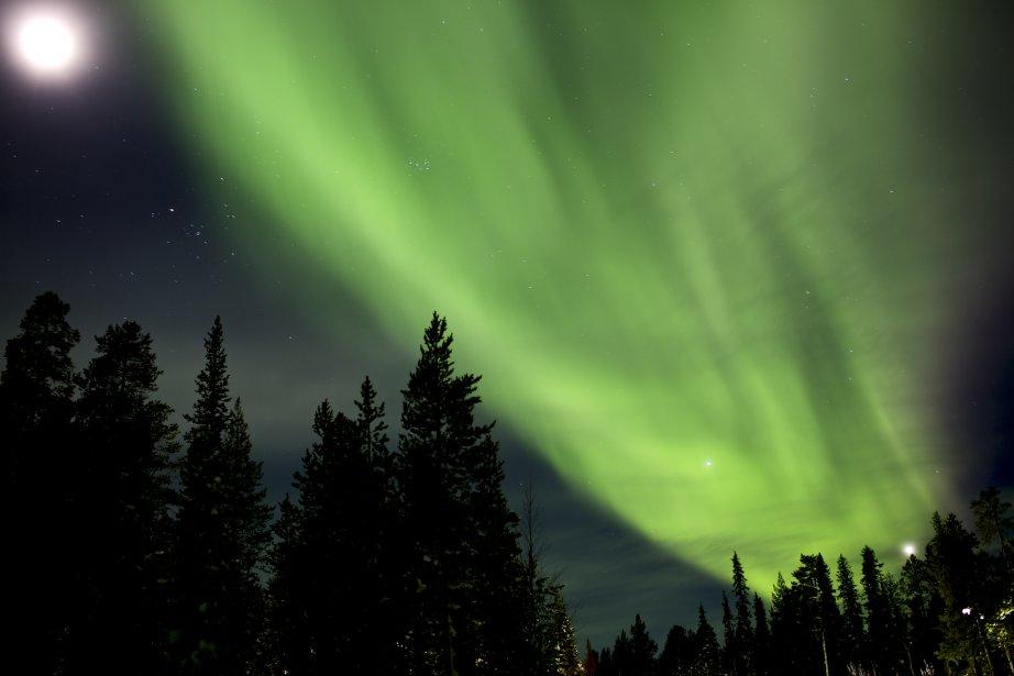 Les aurores boréales en Laponie, Finlande. | 31 janvier 2013