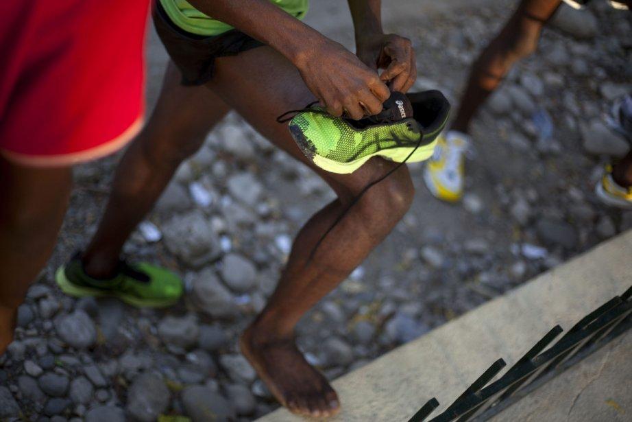Astrel Clovis, un marathonien de 42 ans, en préparation de la course