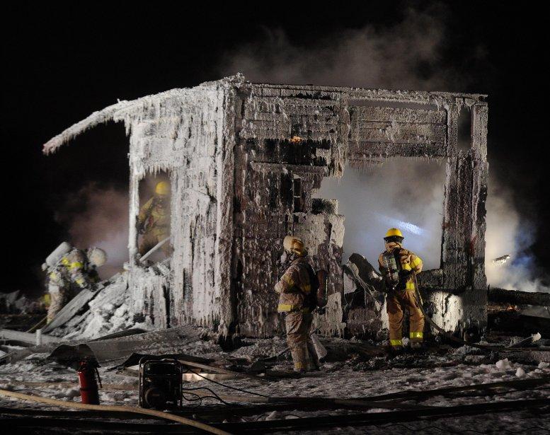 Une trentaine de pompiers ont combattu les flammes. | 1 février 2013