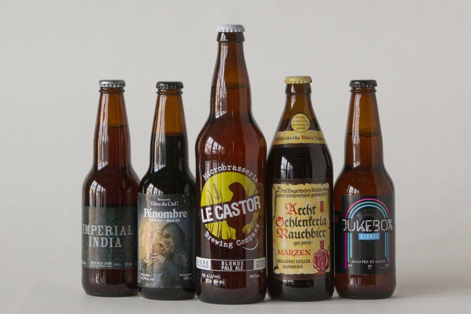 De gauche à droite:Imperial India (Brasserie Dunham), Pénombre... (Photo: Ivanoh Demers, La Presse)