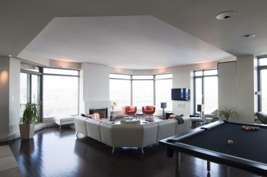 L'architecture recherchée de cet appartement avait attiré l'attention...
