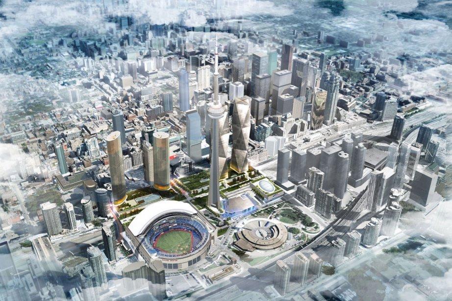 Projet de casino d'Oxford Properties, à Toronto... (Image fournie par Oxford)
