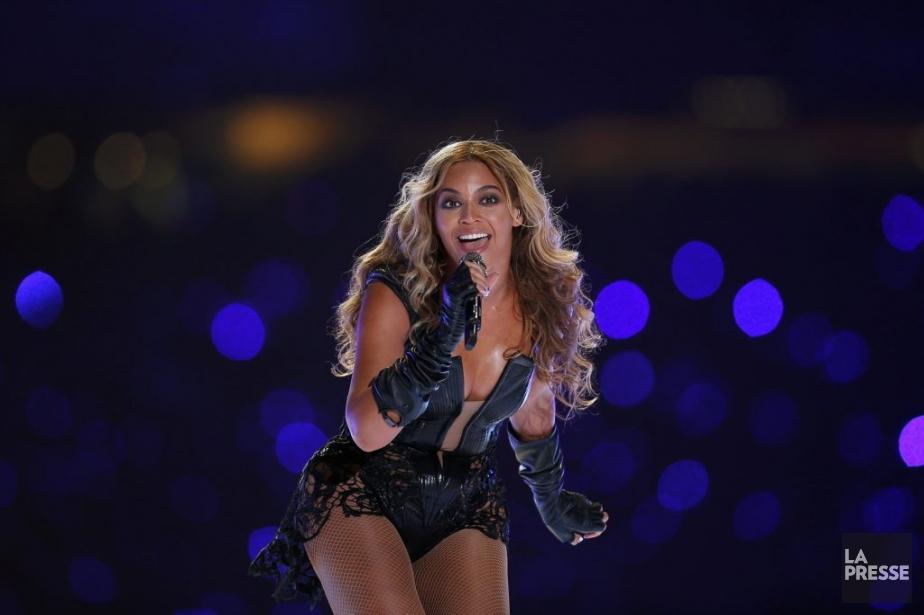 Beyonce a assuré le concert de la mi-temps. | 3 février 2013