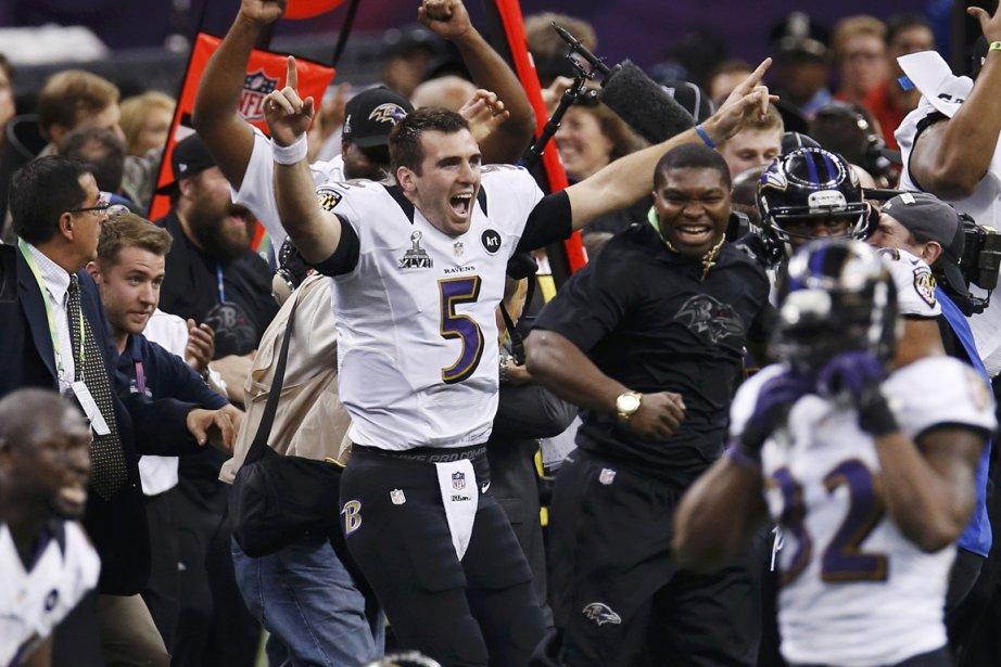 Les Ravens et Flacco laissent éclater leur joie. | 3 février 2013