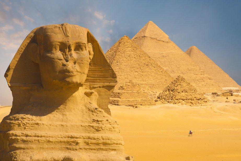 Marc-Antoine et Cléopâtre à Gizeh (Égypte) (Photo RelaxNews)