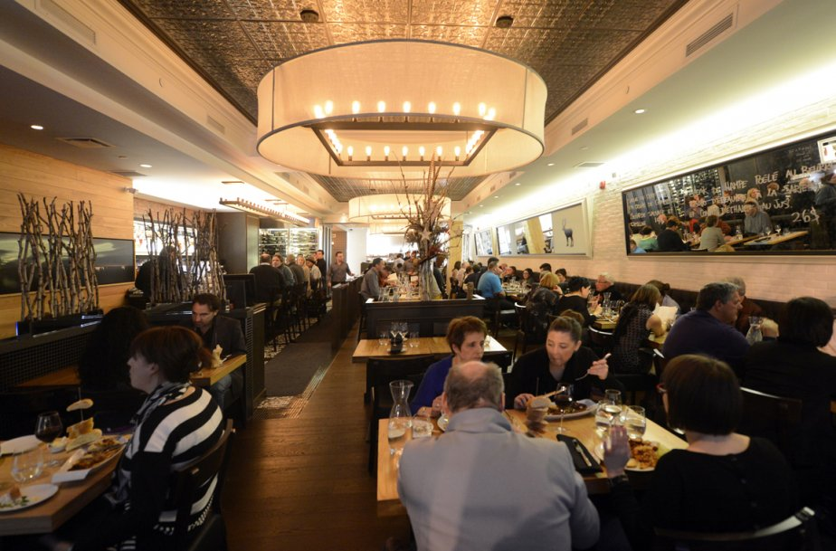 Salle à manger du restaurant chez Boulay. (Bernard Brault, La Presse)