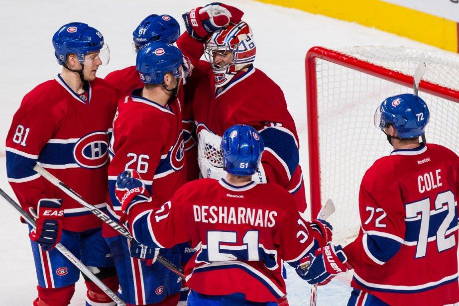 Les joueurs du Canadien ont répondu avec brio... (Photo Edouard Plante-Fréchette, La Presse)