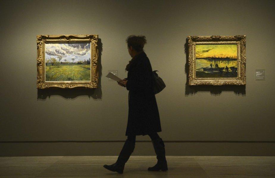 Deux toiles de Vincent Van Gogh présentées au... (Photo: AFP)