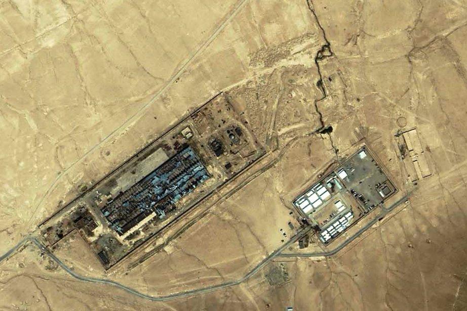 Image satellitaire datant de 2003 d'une installation près... (Photo AFP)