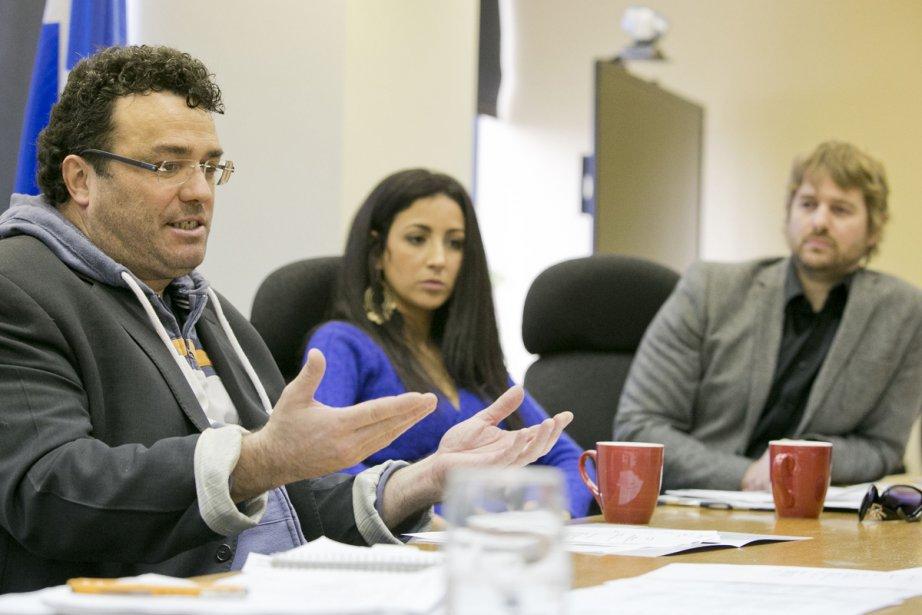 Alan Côté, membre du conseil d'administration du CALQ,... (Photo: Hugo-Sébastien Aubert, La Presse)