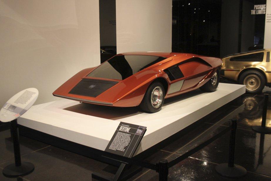 Cette Lancia Stratos Hf Zéro est une voiture concept visant à mettre en lumière toutes les subtilités de l'aérodynamisme. (Photo Jacques Duval, collaboration spéciale)