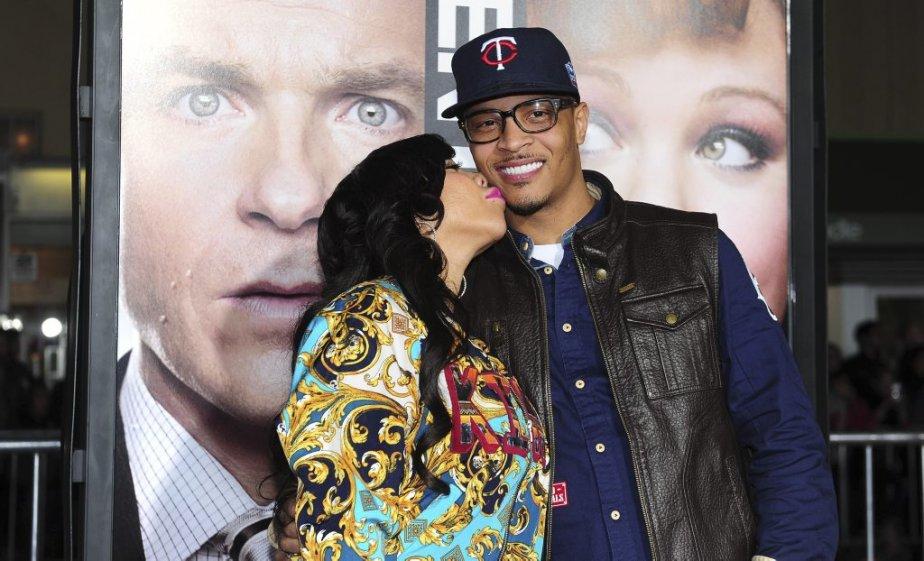 Tip «T.I» Harris et sa femme Tameka Cottle | 6 février 2013