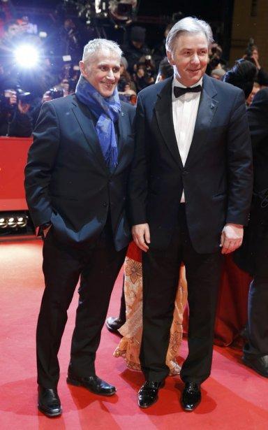 Le maire de Berlin, Klaus Wowereit (à droite) et son compagnon Joern Kubicki | 7 février 2013