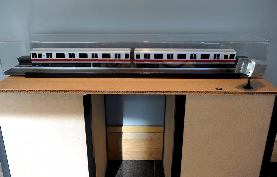 Michel Dallaire a réalisé le design de la carrosserie des wagons destinés à la ligne rouge du métro de Boston. | 8 février 2013