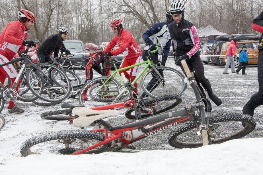 Course de la marmotte au Centre national de cylisme de Bromont. | 8 février 2013