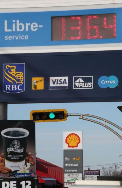 Fluctuations du prix de l'essence aux stations-service d'Ange-Gardien. | 8 février 2013