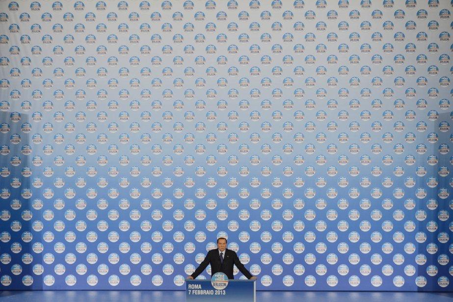 L'ex-premier ministre italien Silvio Berlusconi prononce un discours durant un rassemblement de son parti «Popolo della liberta» (People of the Freedom). | 8 février 2013