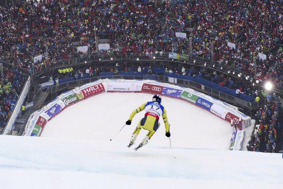 Le Norvégien Aksel Lund Svindal a remporté l'épreuve de descente aux Championnats du monde de ski alpin à Schladming, en Autriche, samedi. On le voit ici à l'entraînement. | 9 février 2013