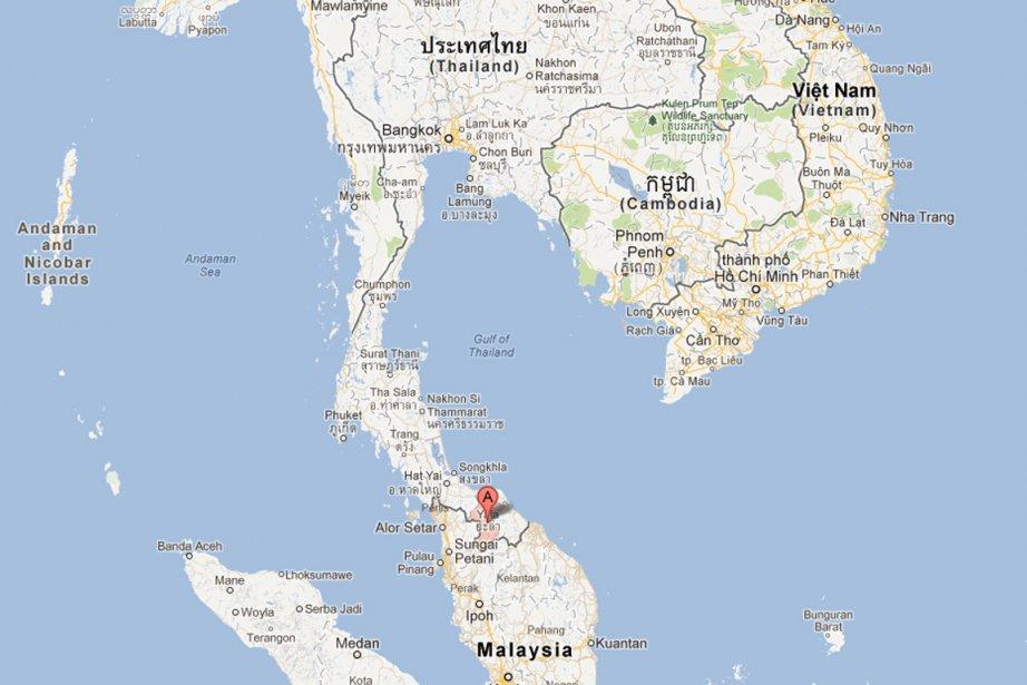 Un attentat à la bombe a tué dimanche cinq... (IMAGE TIRÉE DE MAPS.GOOGLE.CA)