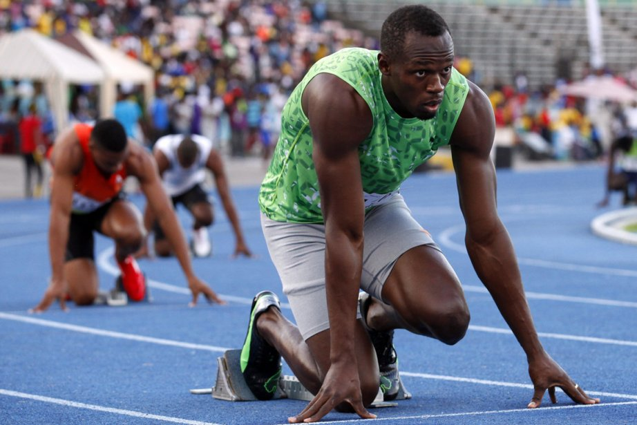 Usain Bolt, le détenteur du record mondial aux... (Photo : Gilbert Bellamy, Reuters)