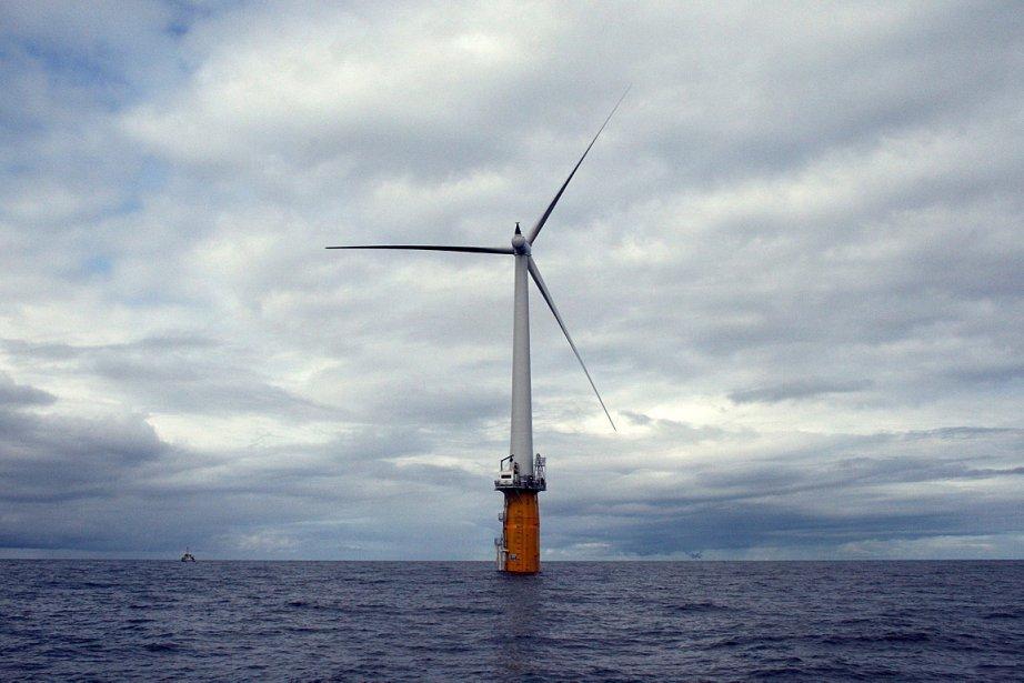 Une éolienne en mer, en Norvège.Au mieux, le... (Photo d'archives REUTERS)