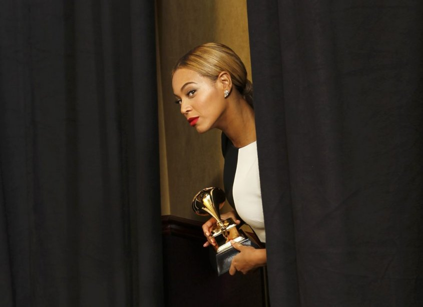 Beyonce, depuis les coulisses (Photo Reuters)