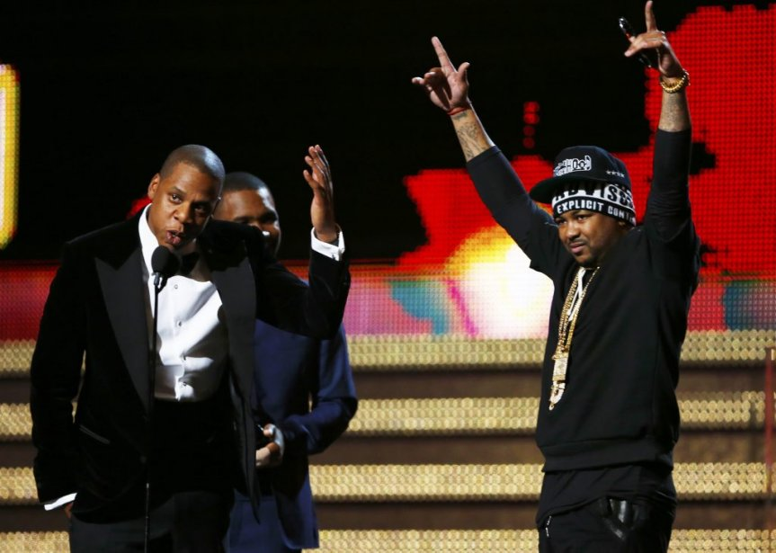 Jay-Z, Frank Ocean et The-Dream recevant leur trophée (Photo Reuters)