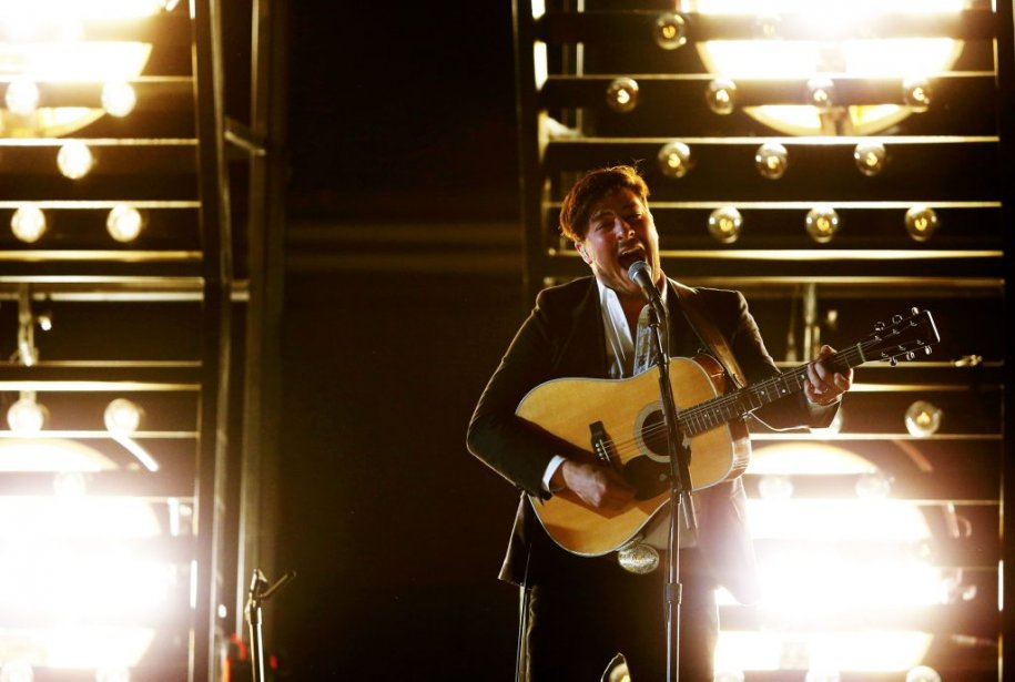 Marcus Mumford de Mumford and Sons (Photo Reuters)