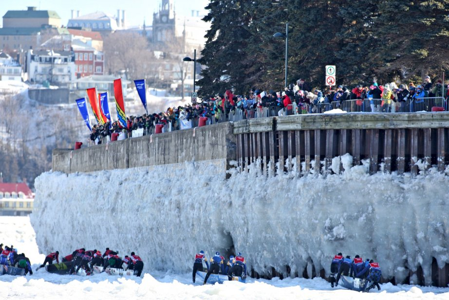 La course en canot entre Lévis et Québec le 10 février | 11 février 2013