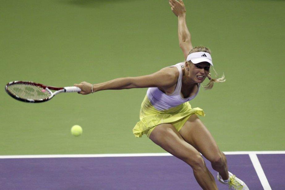 Wozniacki, classée 10e, a battu la qualifiée de... (Photo AP)