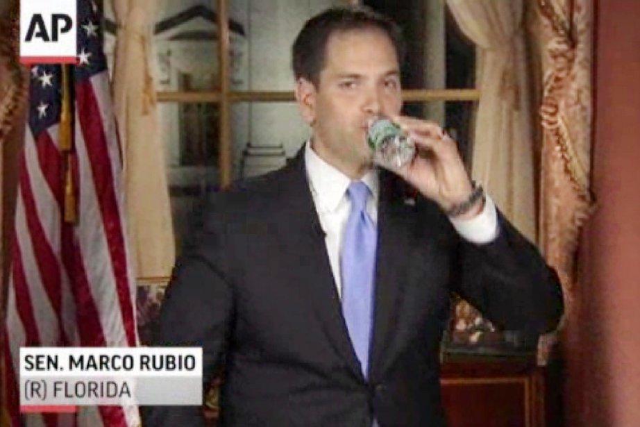 Seul couac dans la prestation de Marco Rubio:... (IMAGE AP)