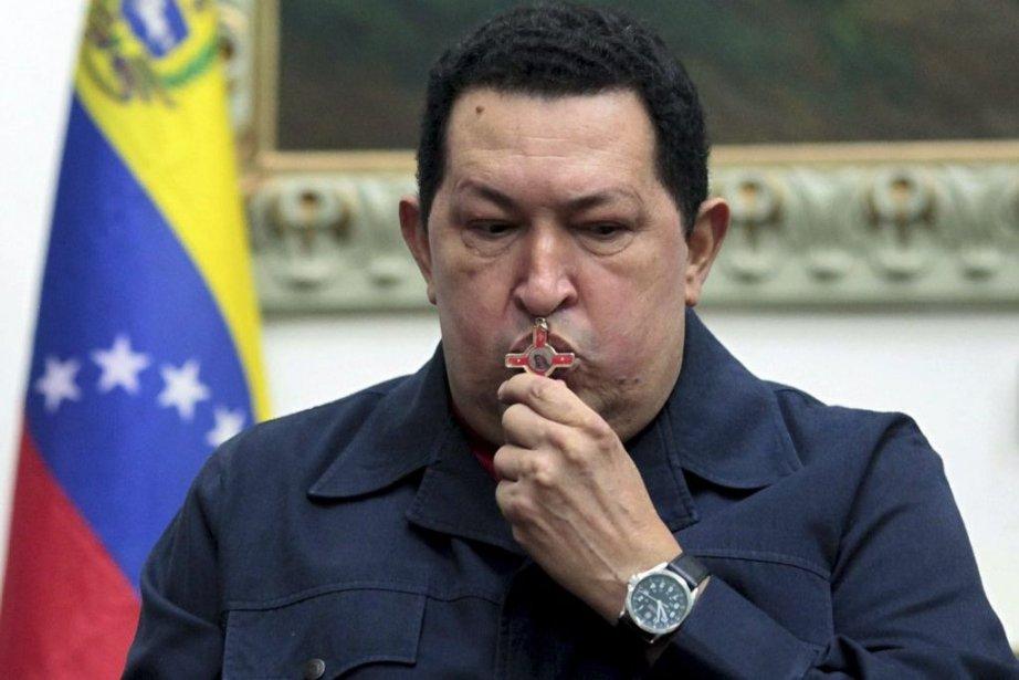 Le président vénézulien Hugo Chavez n'a pas été... (PHOTO AFP/PRESIDENCIA)
