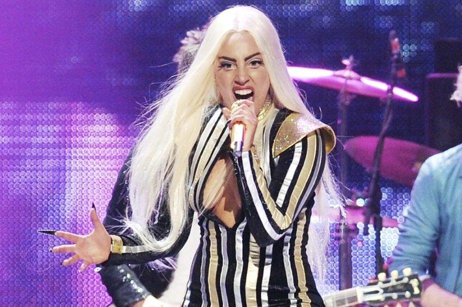 Lady Gaga en concert le 15 décembre dernier... (Photo: archives AP)
