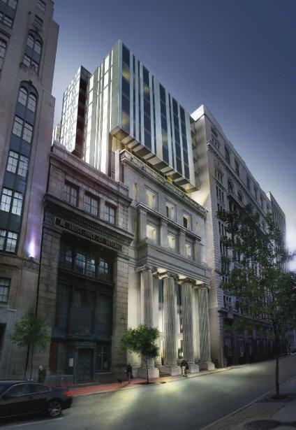 Le projet Bank, rue Saint-Jacques, à proximité de la Place... | 2013-02-14 00:00:00.000